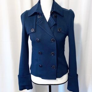 Diane von Furstenberg Wool/silk navy jacket Size 2
